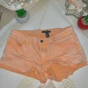 Forever 21 orange pastel colored shorts